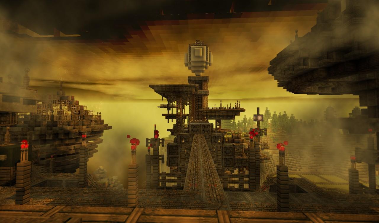 Steampunk floating city {New Aerios} Minecraft Project Floating City Steampunk