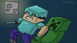 """Fight"", a fan art inspired by Captain Sparklez' ""Revenge"" Minecraft Blog"