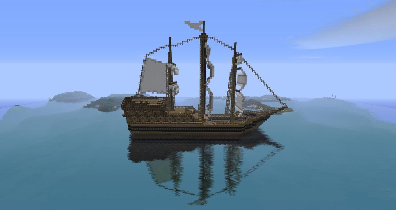 Minecraft Pirate Ship Tutorial Fatalflaw s pirate shipPirate Ship Minecraft Design
