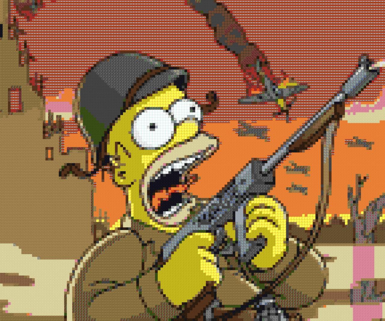 Homer Simpson Minecraft Map