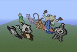 Pokemon pixel art Minecraft Project