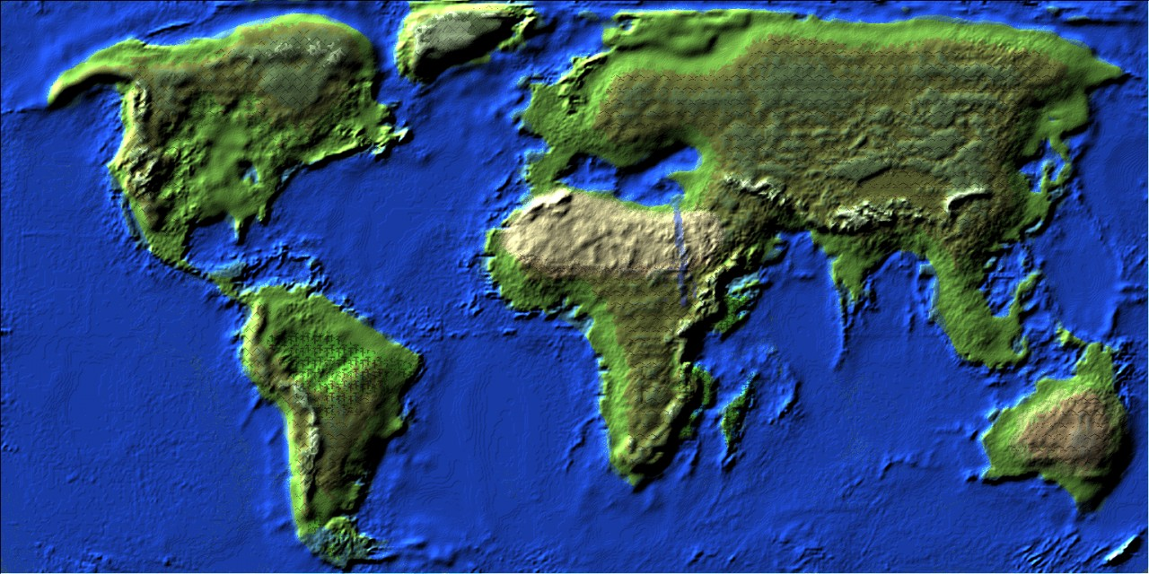 The world (update comming soon includes smoother terrain and larger