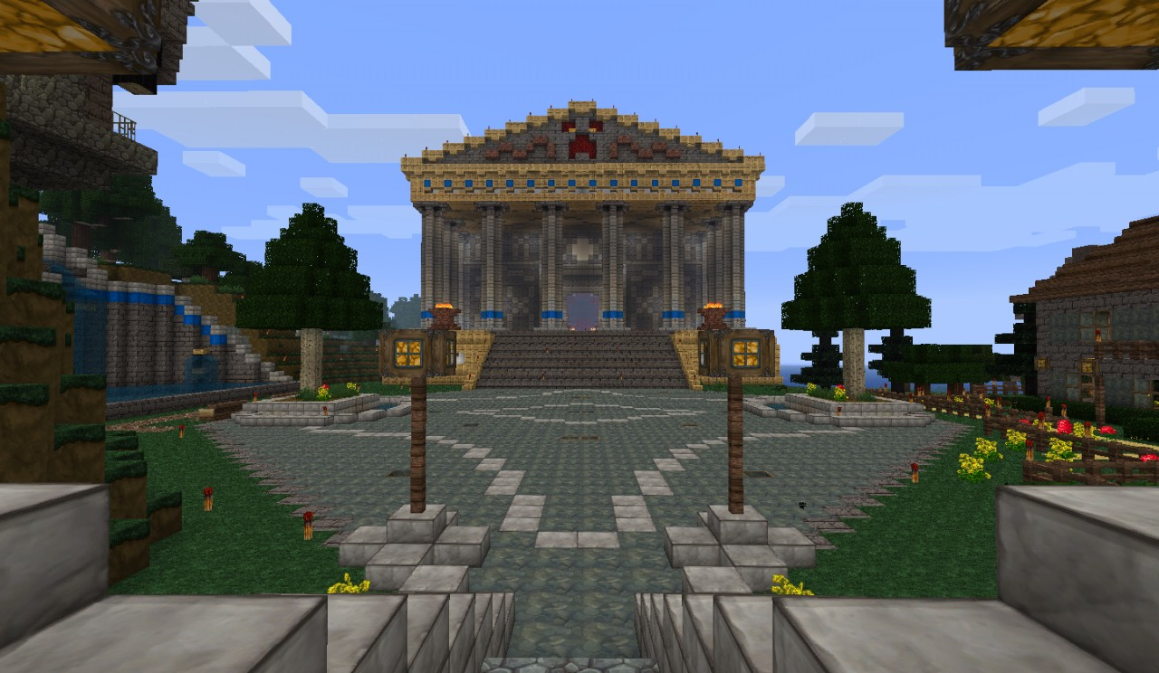 Temple Of The Holy Creeper Greek Roman Style Minecraft Map