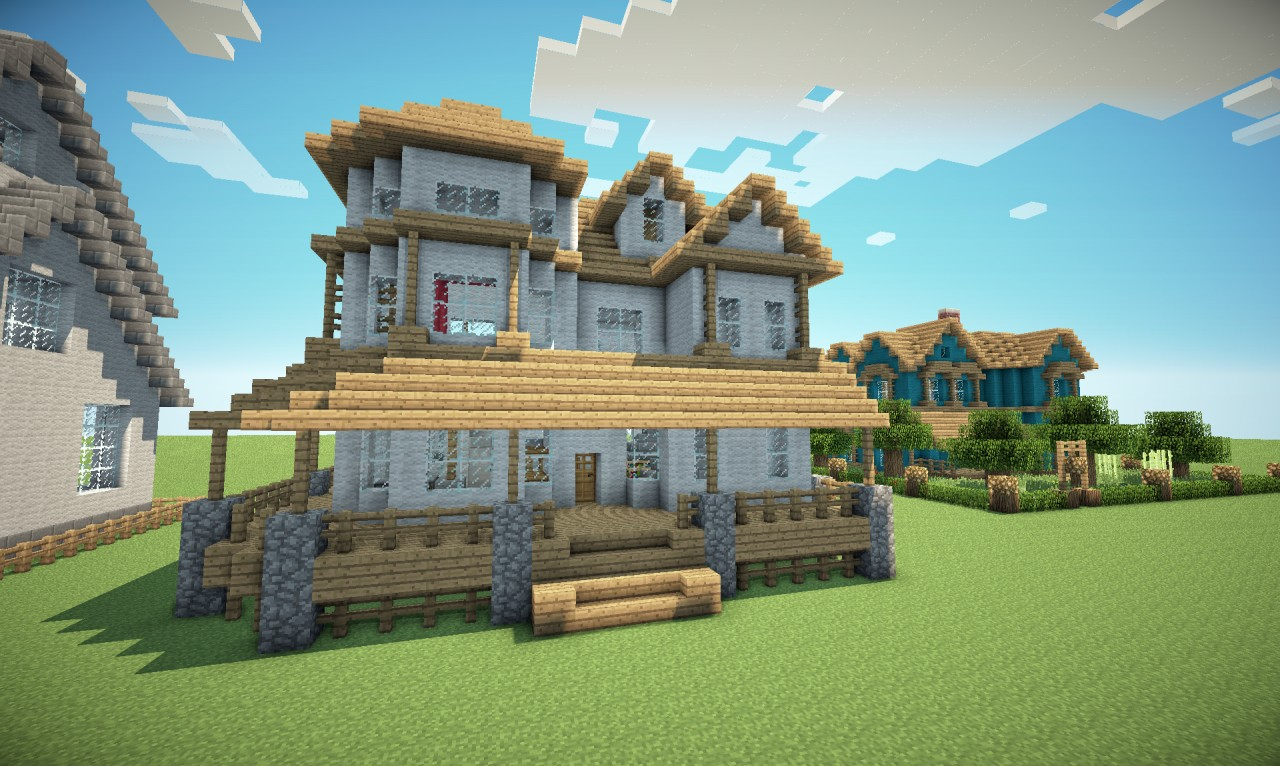 Victorian style house minecraft project for Houses projects