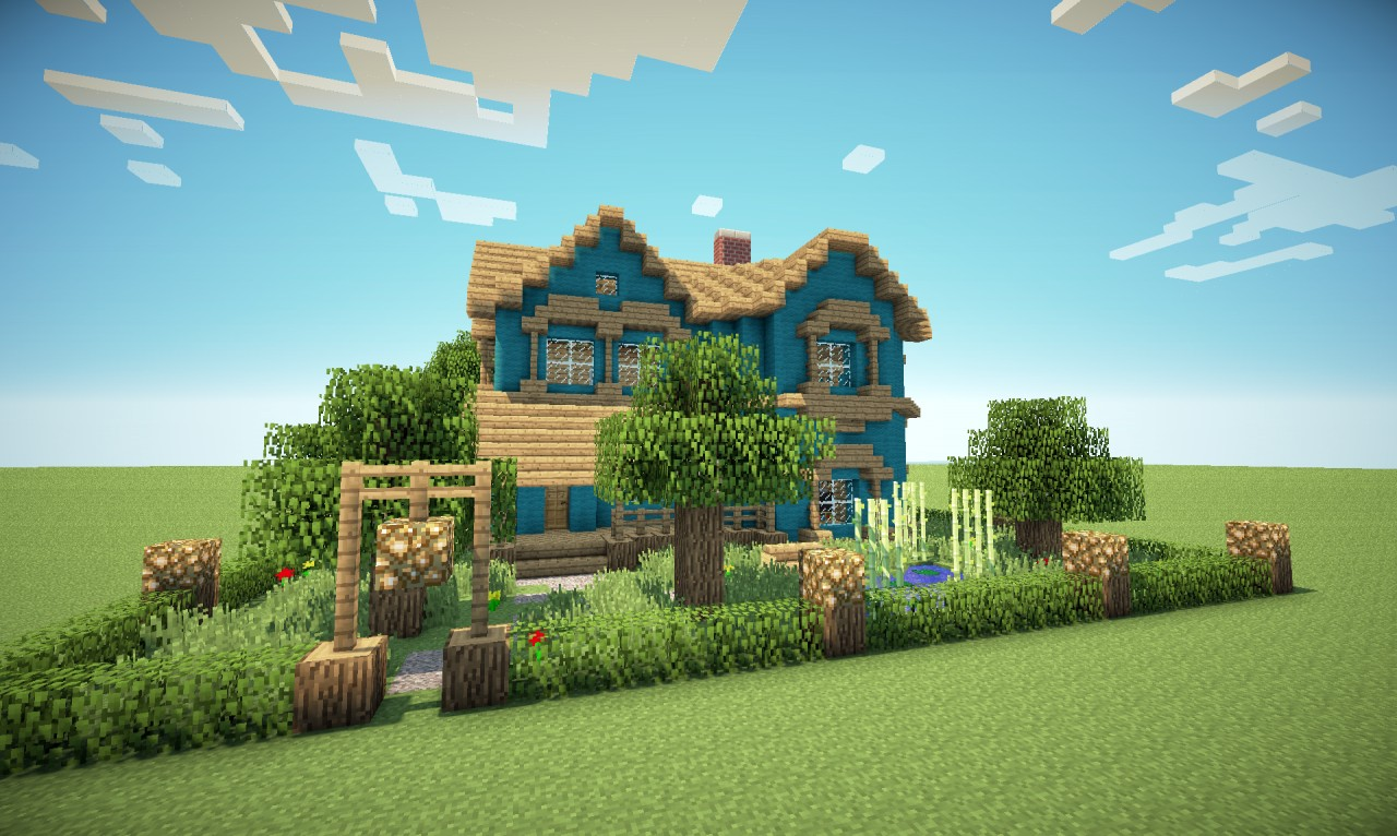 victorian house in a different colour minecraft project