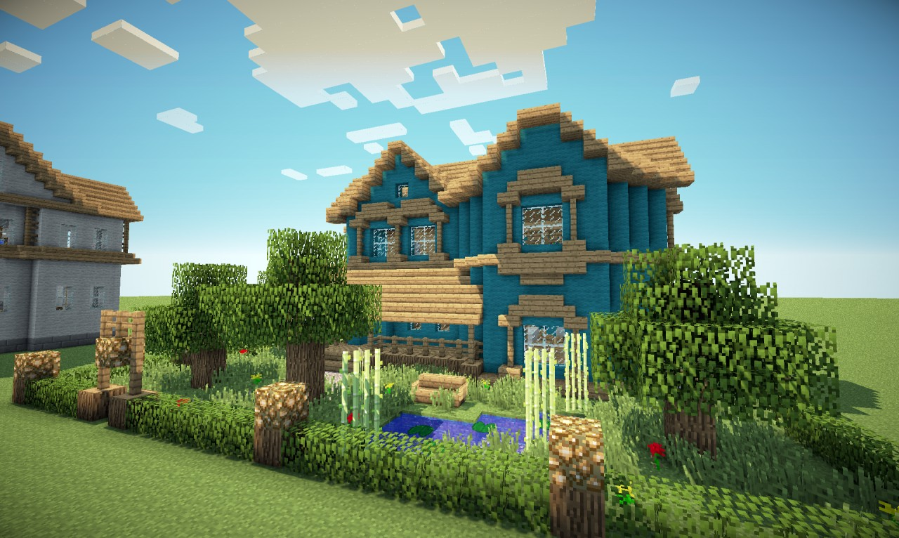 Victorian house in a different colour minecraft project - Colorful house plans ...