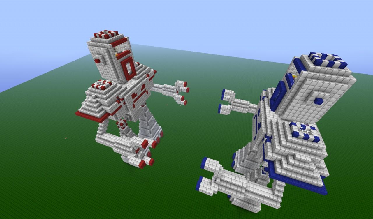 карта механический робот для майнкрафт #2