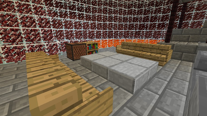 The nether dome includes potion room mushroom farm 4x4 for Living room 4x4