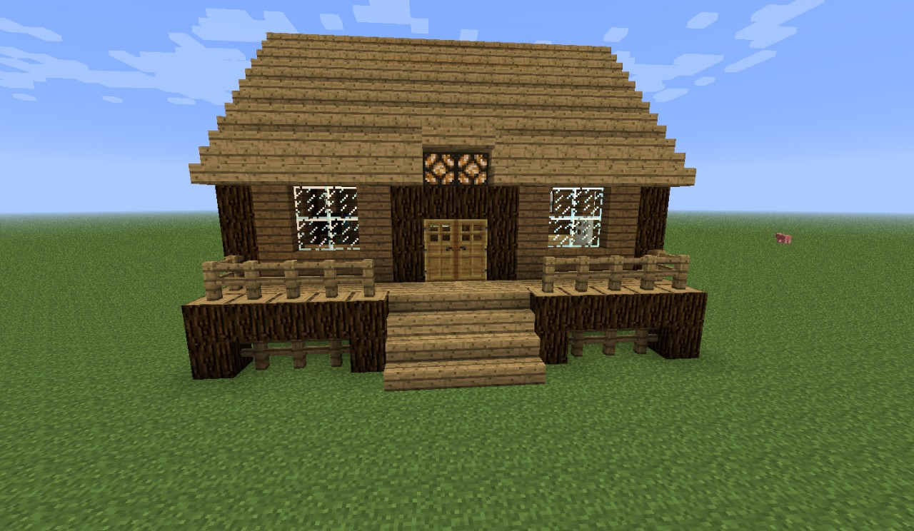 Minecraft Log Cabin ~ I made changes to minecraft villages using features