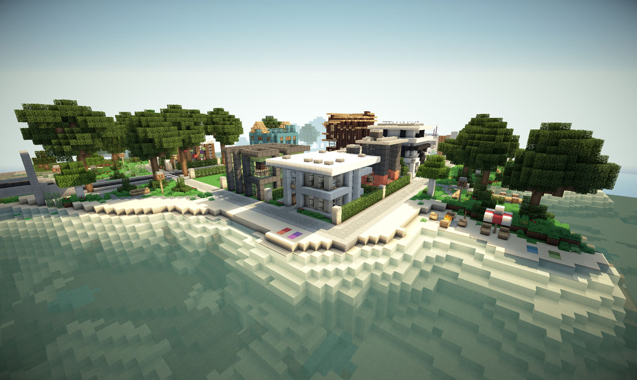Modern Neighborhood on World of Keralis Minecraft Project - ^