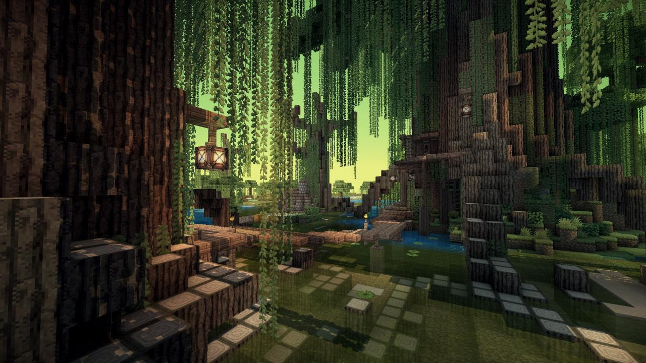 Swamp Village With Download Minecraft Project