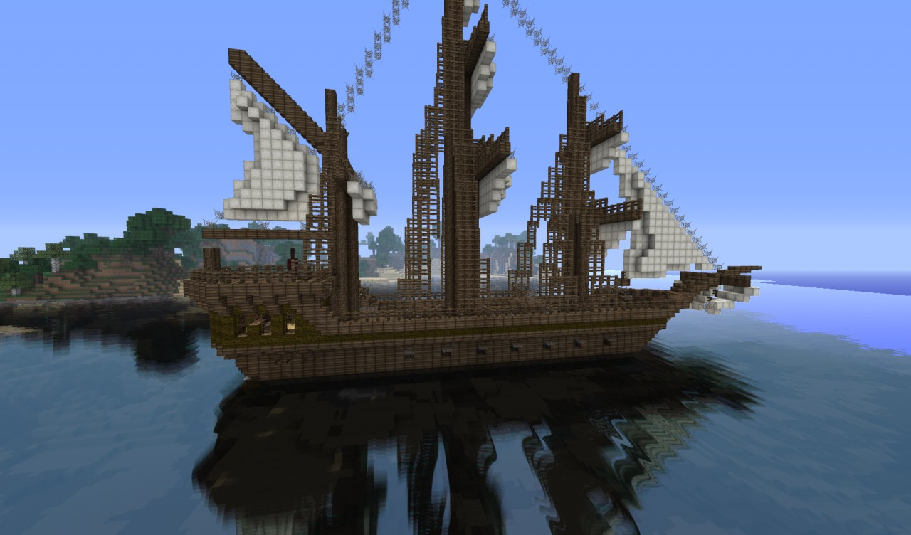 how to make a big sailboat in minecraft