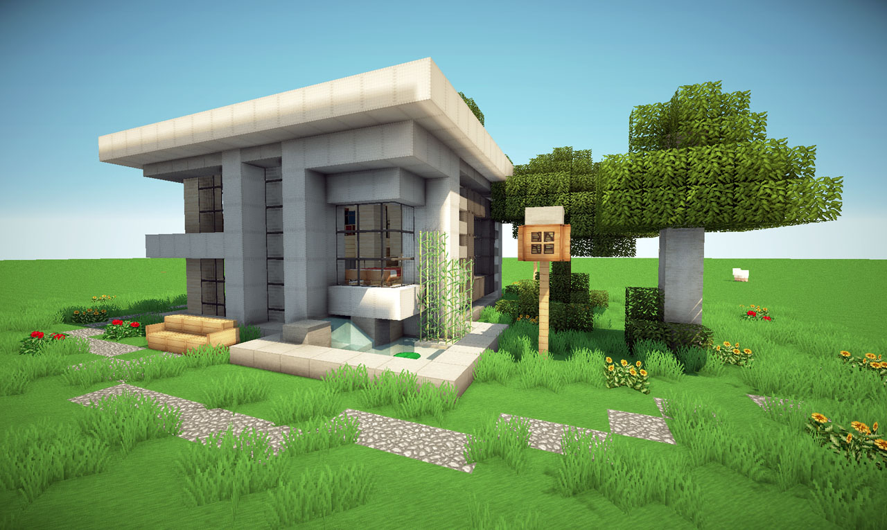 Modern neighborhood on world of keralis minecraft project for Modern house projects