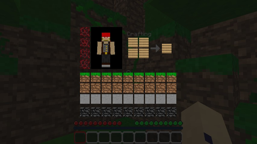 A brand new GUI with block textures.
