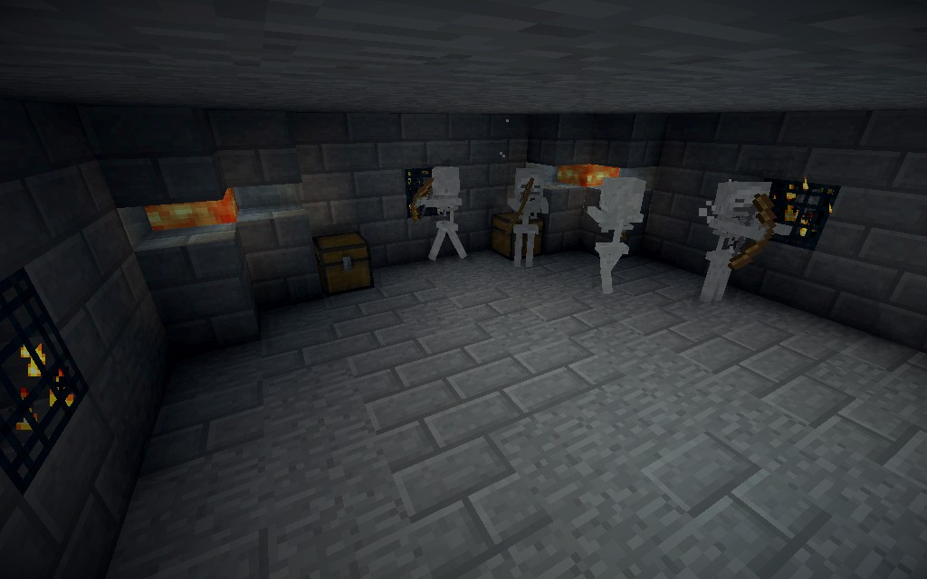 Dungeon full of skeletons