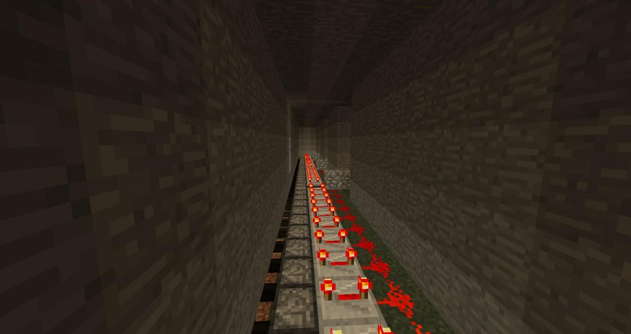 piston lava fall trap Minecraft Project