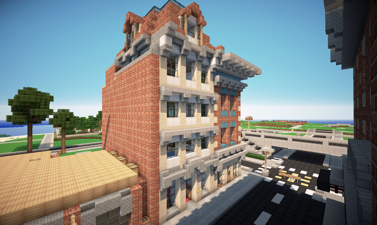 Victorian Style Town With Hotel On World Of Keralis