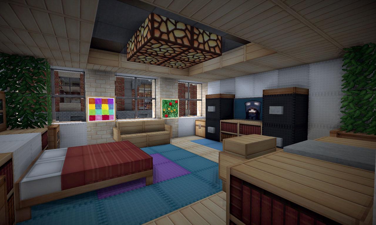 Bedroom ideas on minecraft interior design for Bedroom designs minecraft