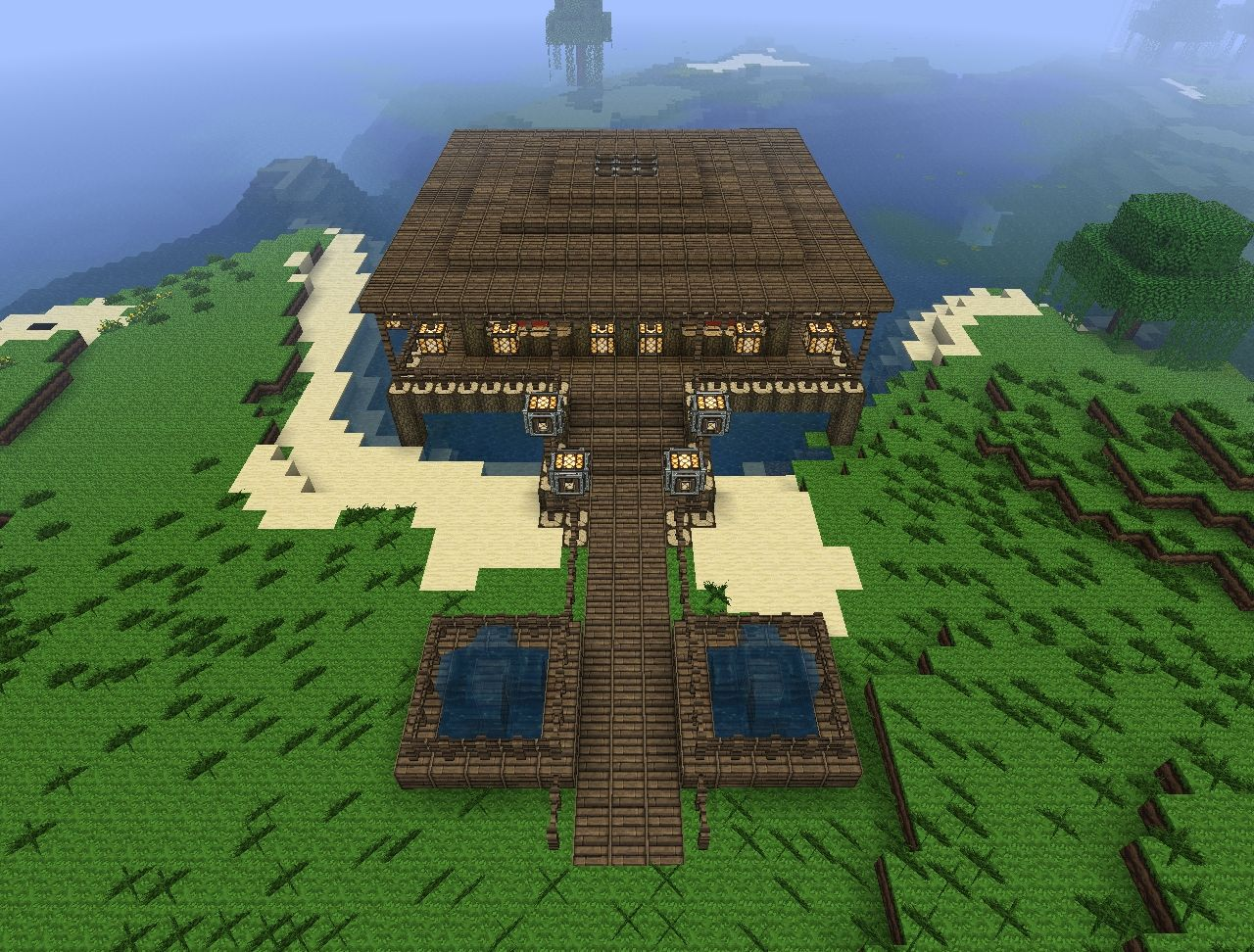 beach house starter map minecraft project front side of the house