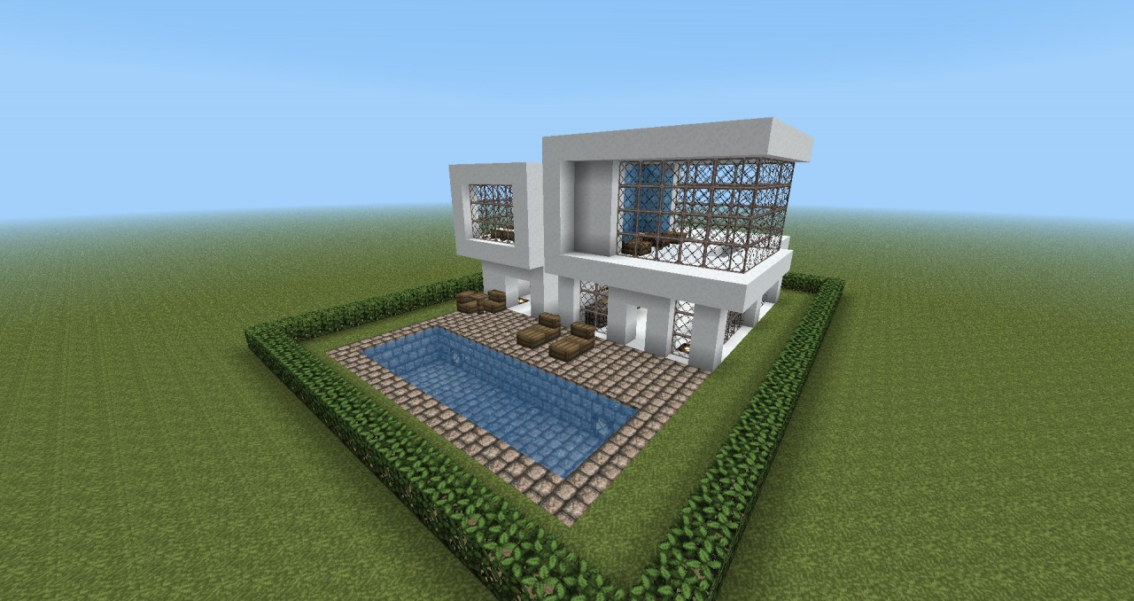 Modern house design minecraft project for Minecraft home designs