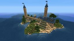 Island Manor w/ Towers Minecraft Map & Project
