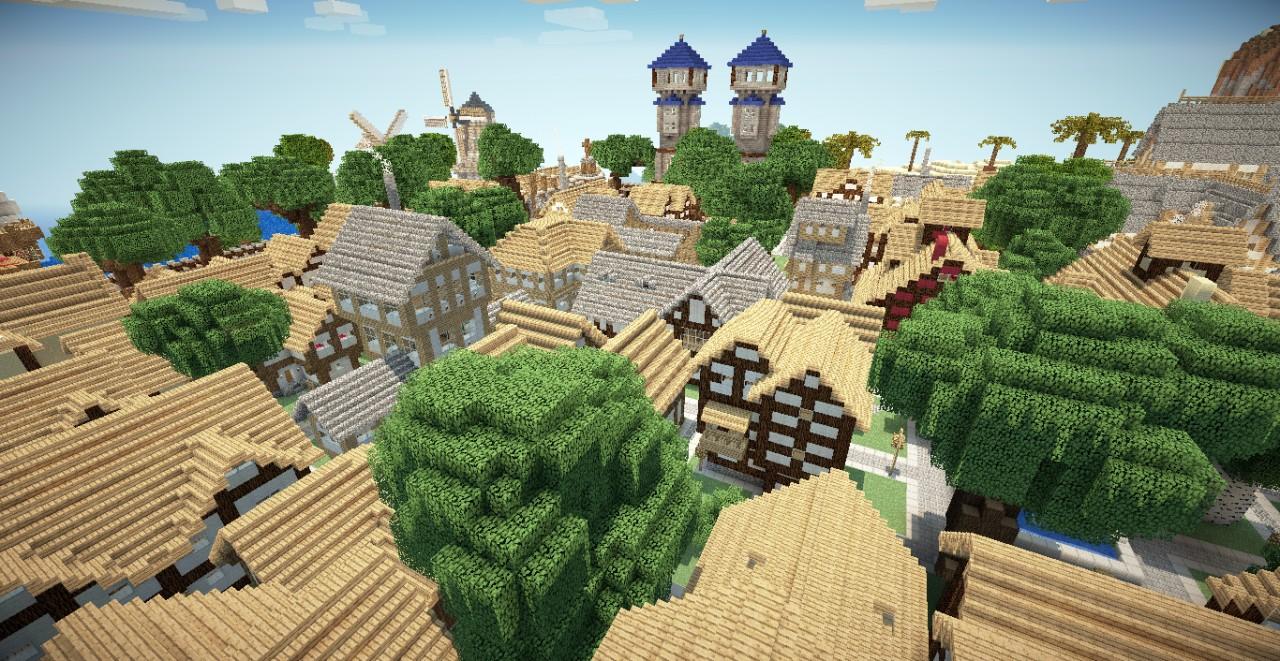 майнкрафт карты средневековья #5