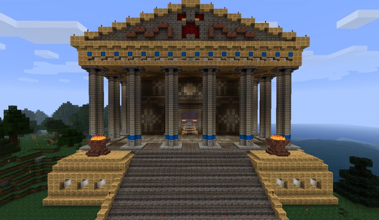 Temple Of The Holy Creeper Greek Roman Style Minecraft