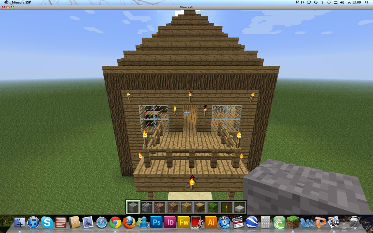Simple wooden house minecraft project for Minimalist house minecraft