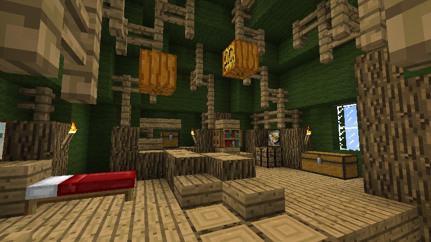 Adventure time tree house minecraft project for Adventure bedroom ideas