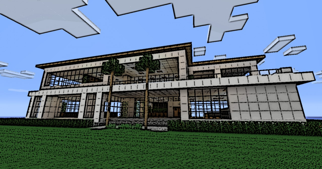 Pin Big Modern Mansion Minecraft Project On Pinterest