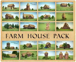 Farm House Pack - 23 Different houses! (With Download!)