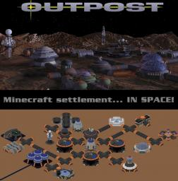 Space Colony -Outpost inspired- [Fully explorable + Do It Yourself!] Minecraft Project