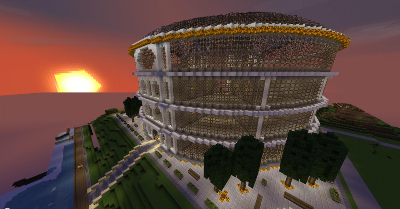 Rotunda Shopping Mall Shop Store Minecraft Project