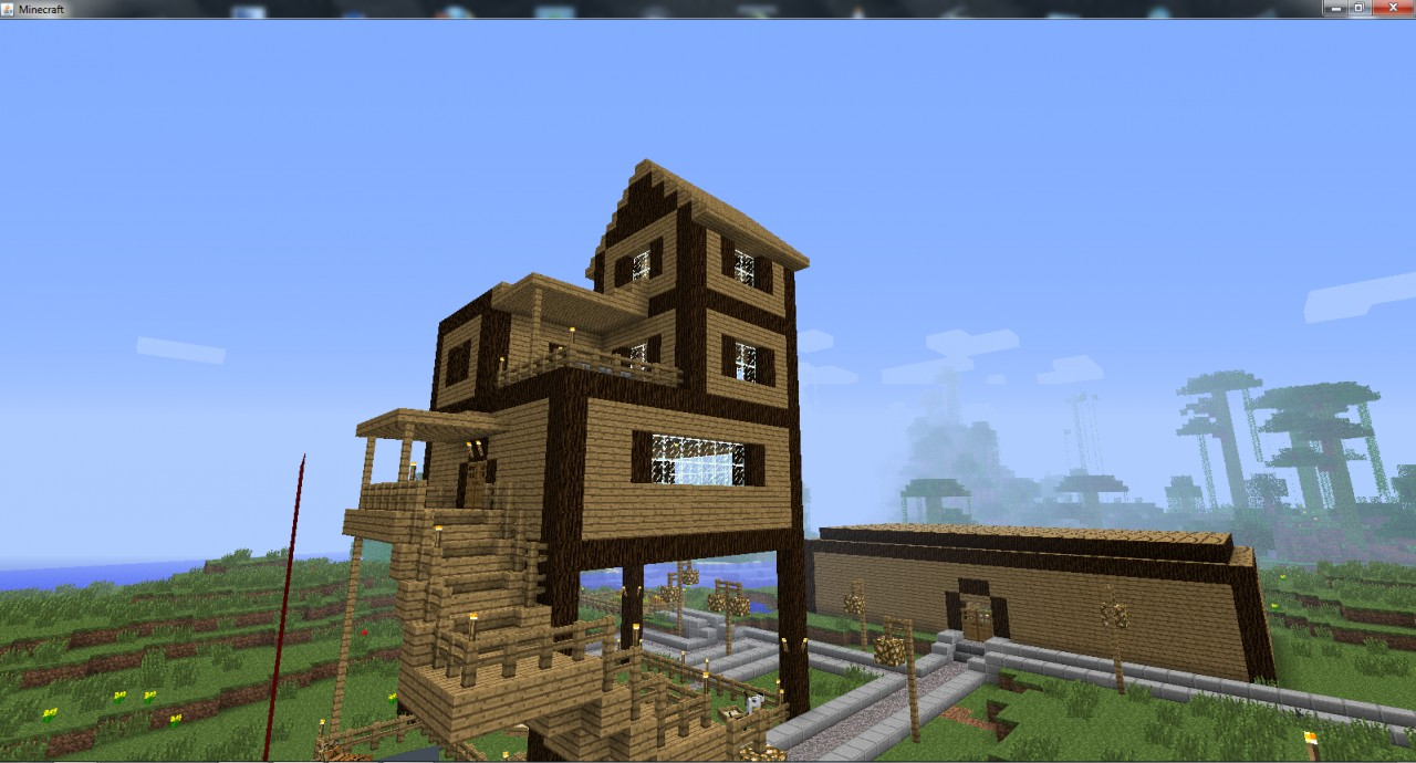 My first house project minecraft project for Project house