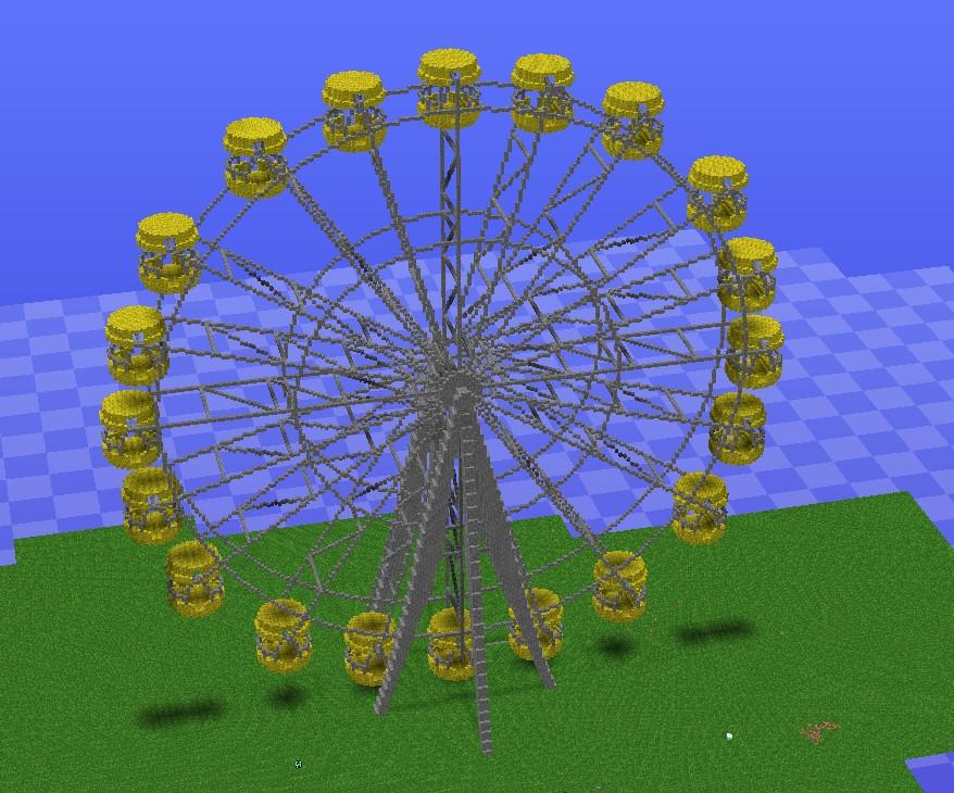 THE FERRIS WHEEL :) Minecraft Project  THE FERRIS WHEE...
