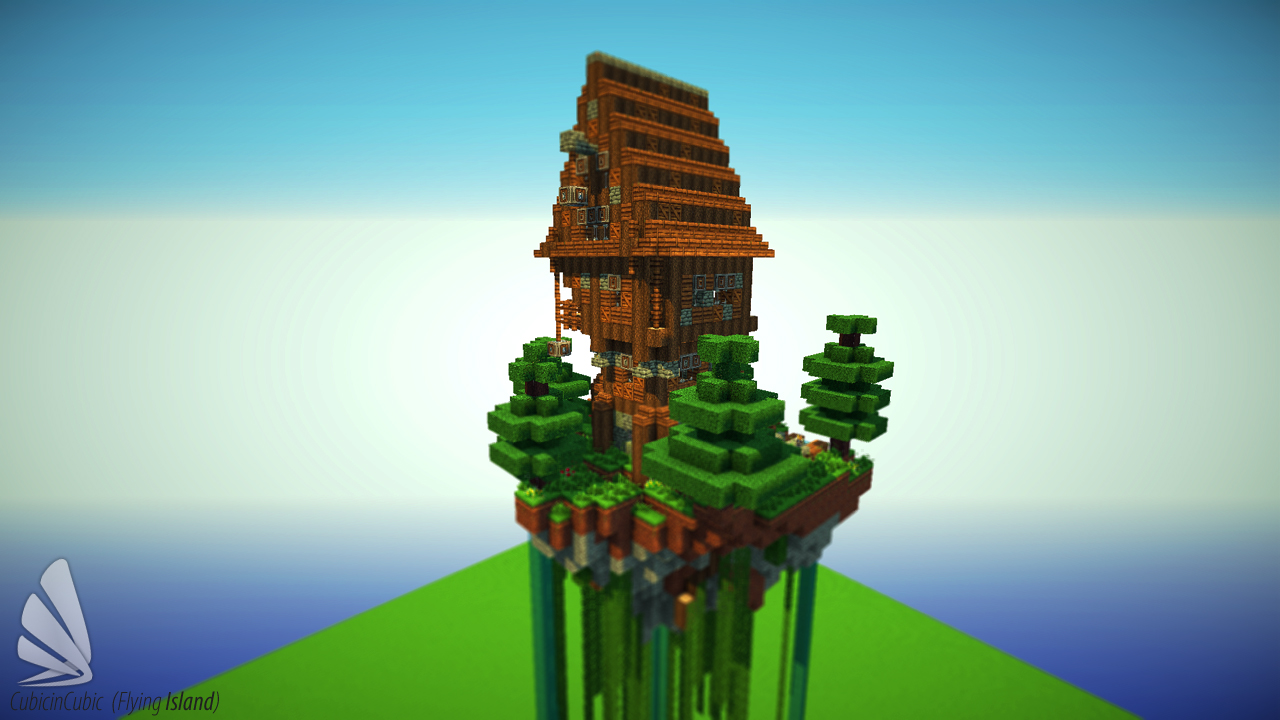 Flying Island Schematic Minecraft Project