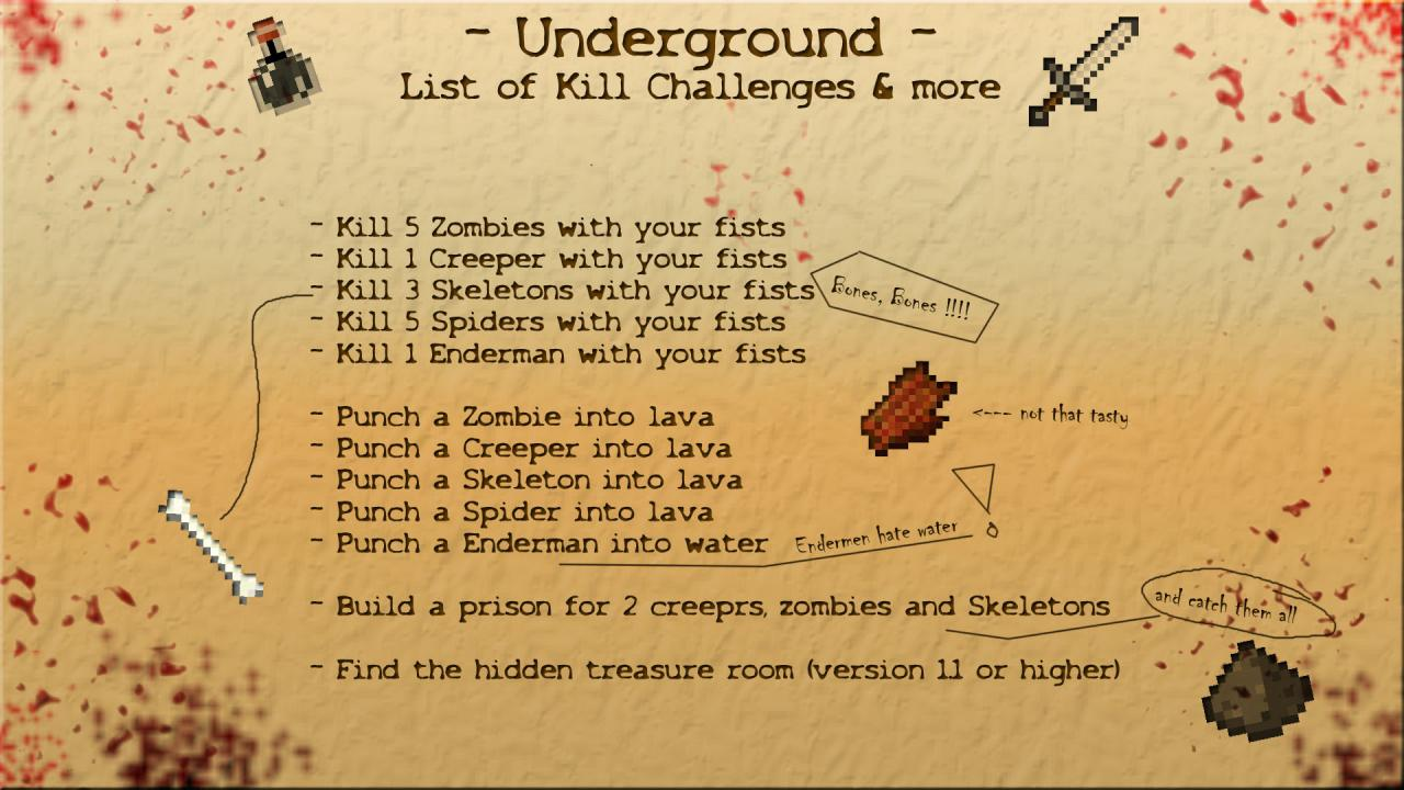 Survival Map: Underground 1.1 - You'll never see the sunlight ...