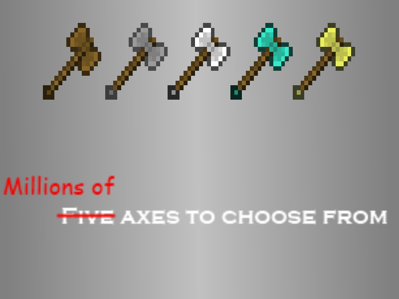 how to create an axe in minecraft