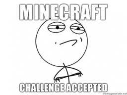 You challenge me! Minecraft Map & Project