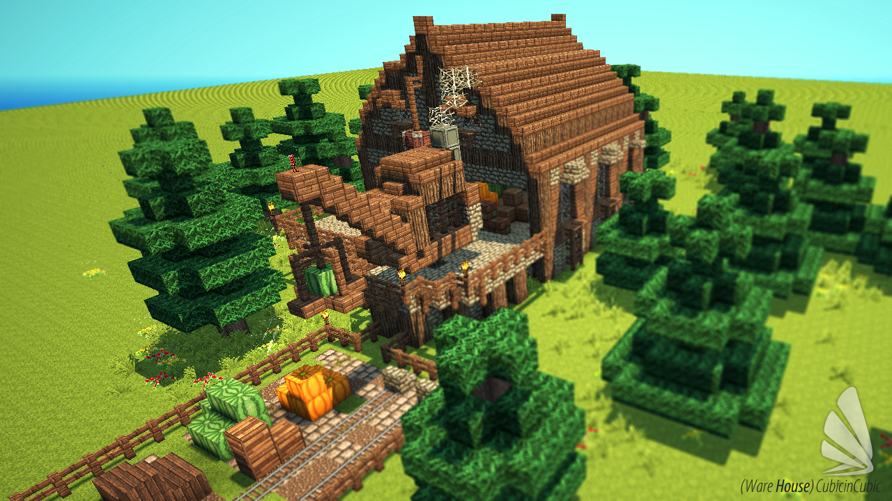 Ware House  With Schematic Download   Minecraft Project