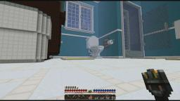 An odd squelching noise behind the toilet. Minecraft