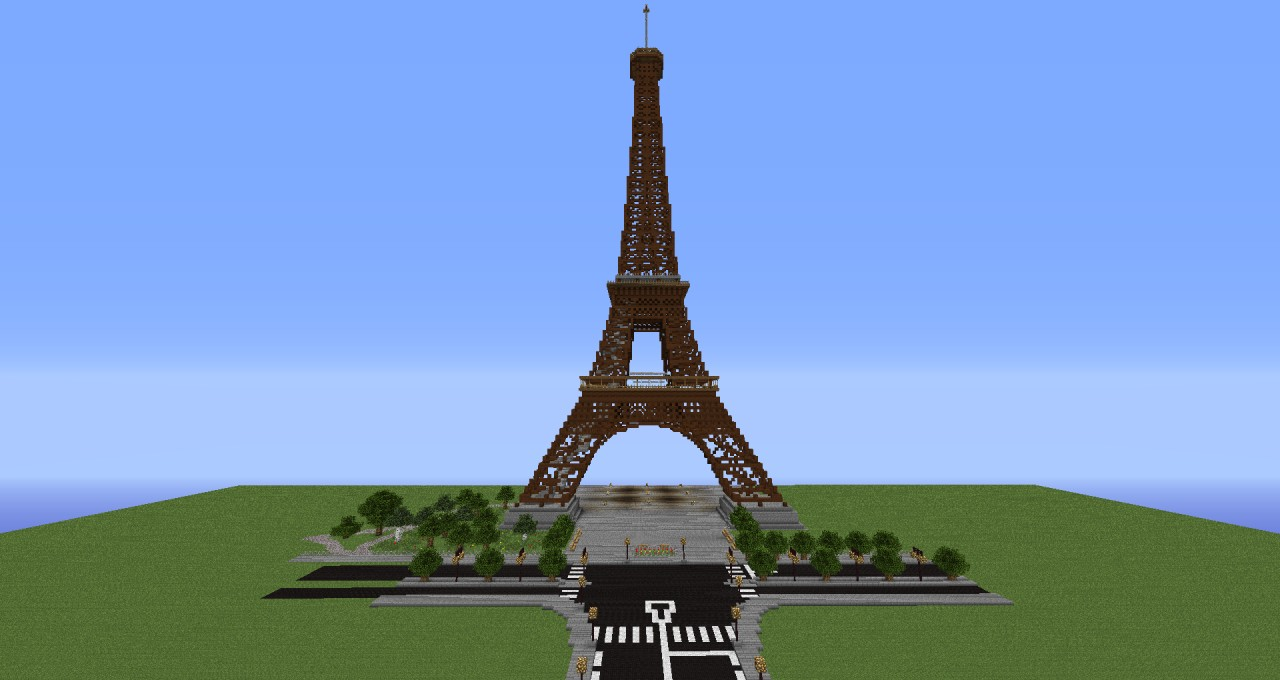 Eiffel tower over 210 blocks height minecraft project eiffel tower over 210 blocks height altavistaventures Image collections