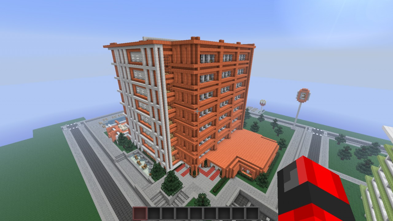 Modern hotel embassy suites minecraft project for Modern hotel