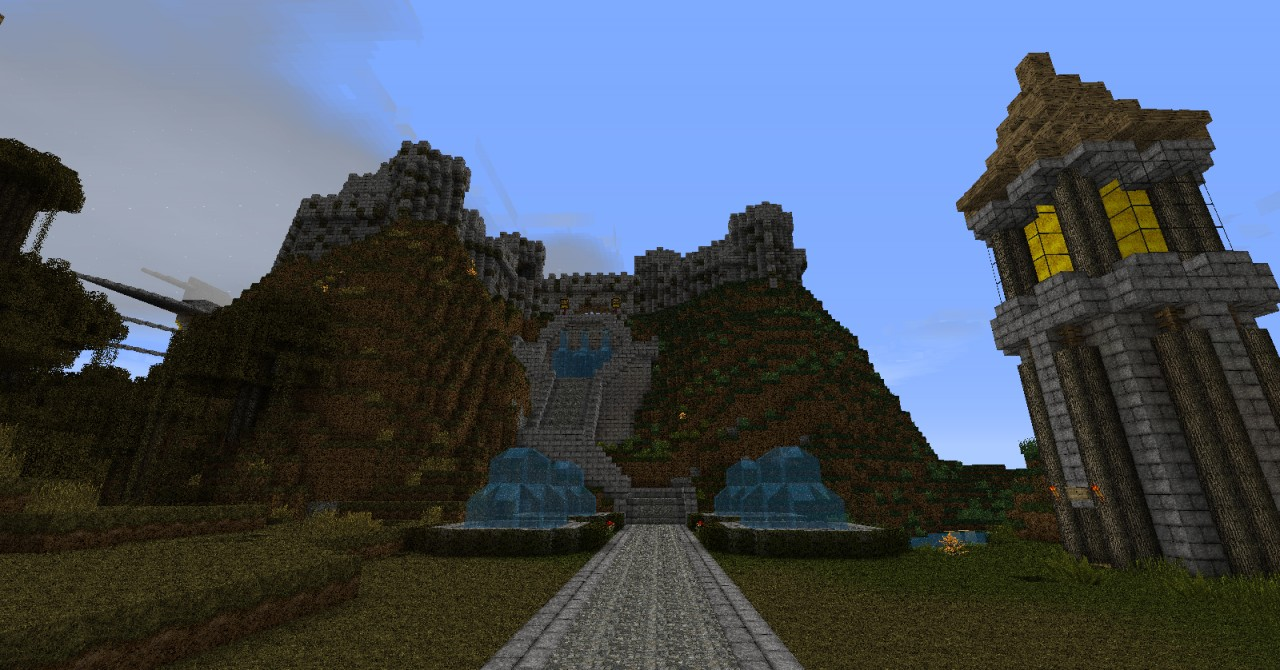 mountain top castle minecraft project