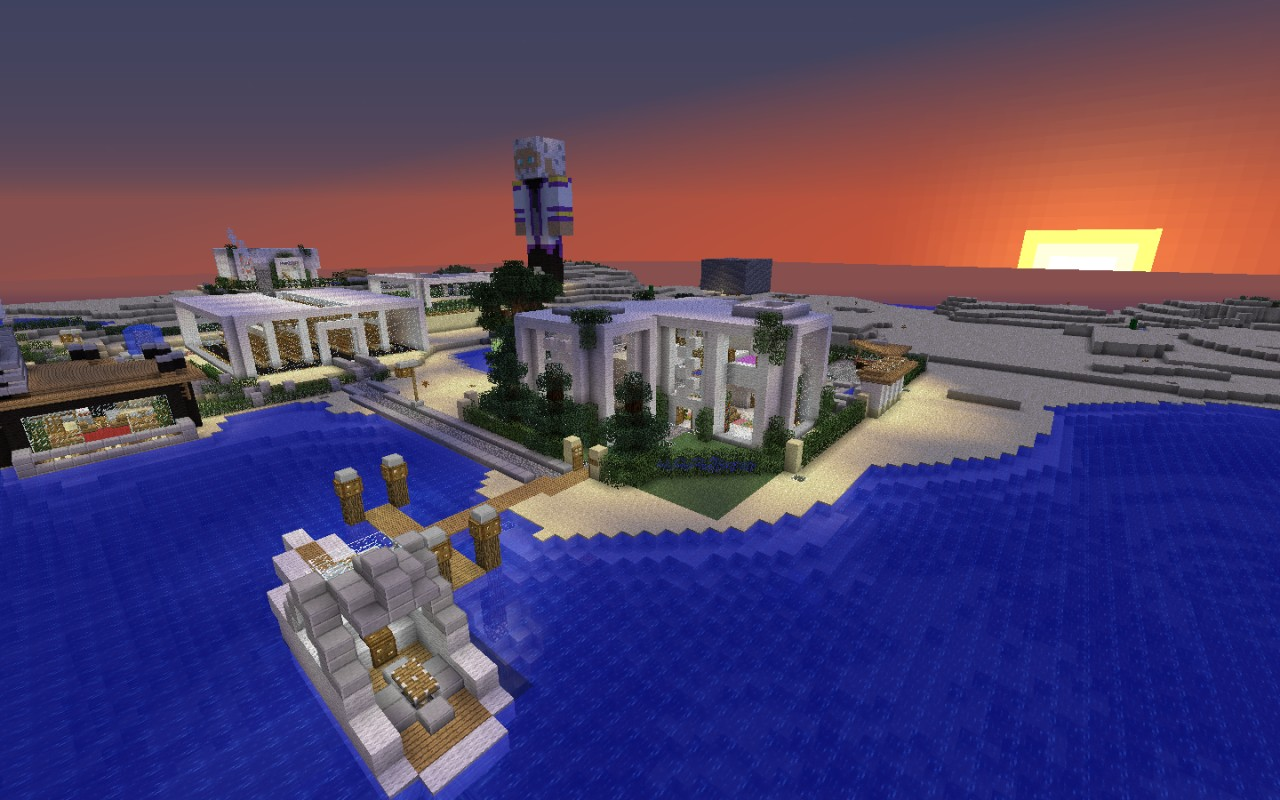 Modern house modern village coming soon front