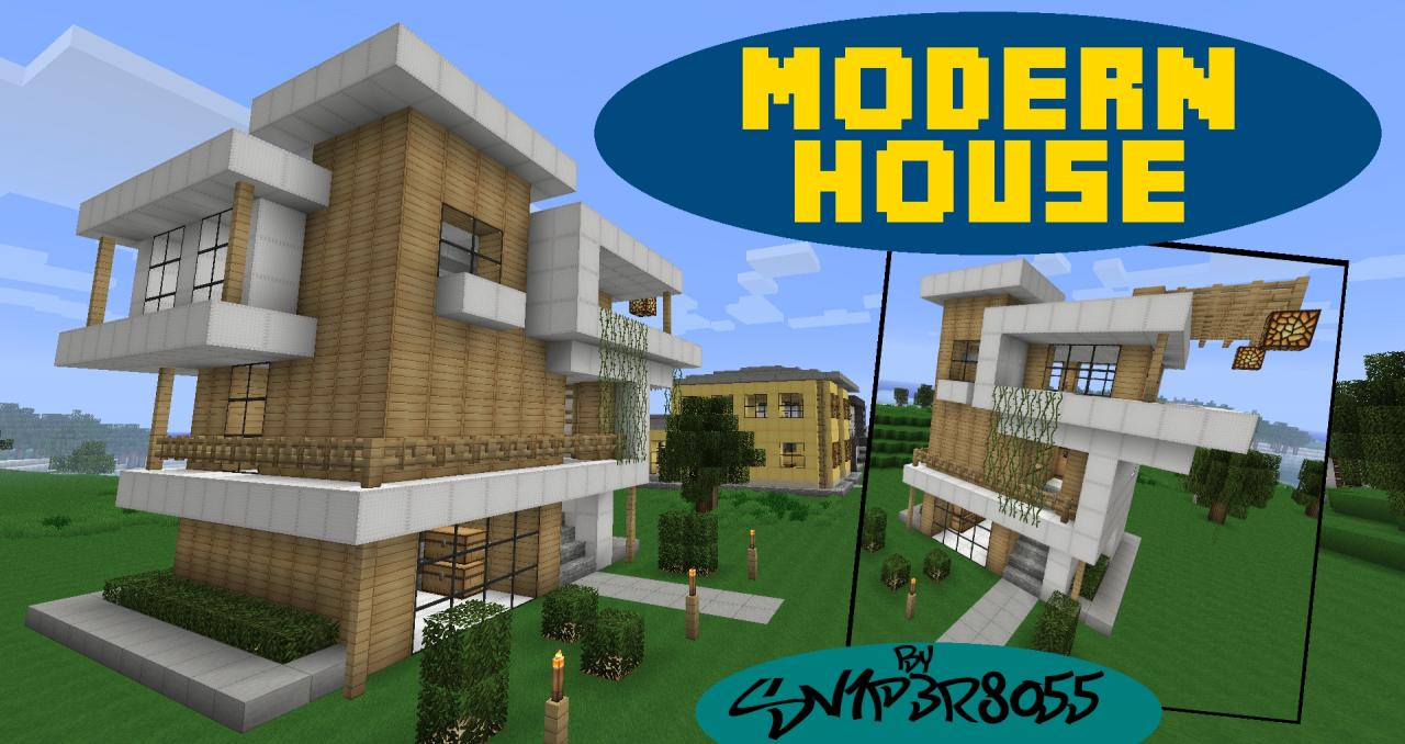 Small Modern House Minecraft Project - ^