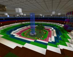 Floating Castle!  And Shop! And Obstacle course! Minecraft Map & Project