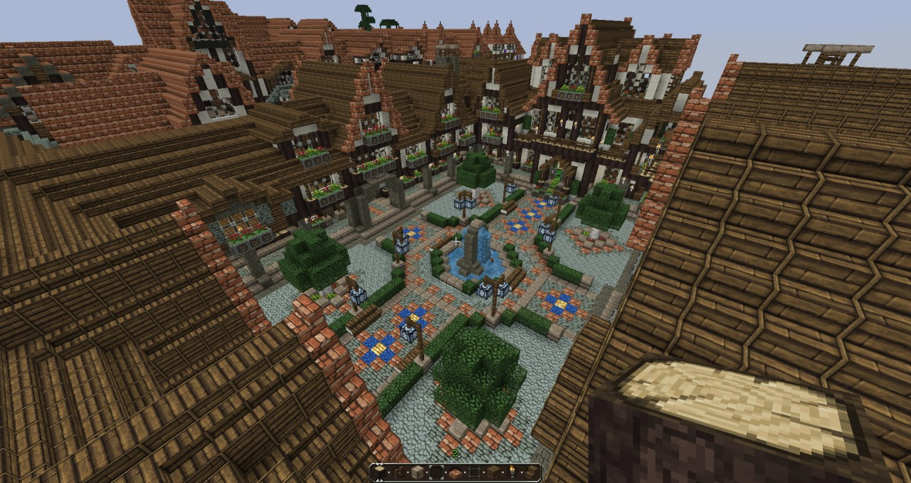 Lovely Medieval Square Medieval Town Update1 With