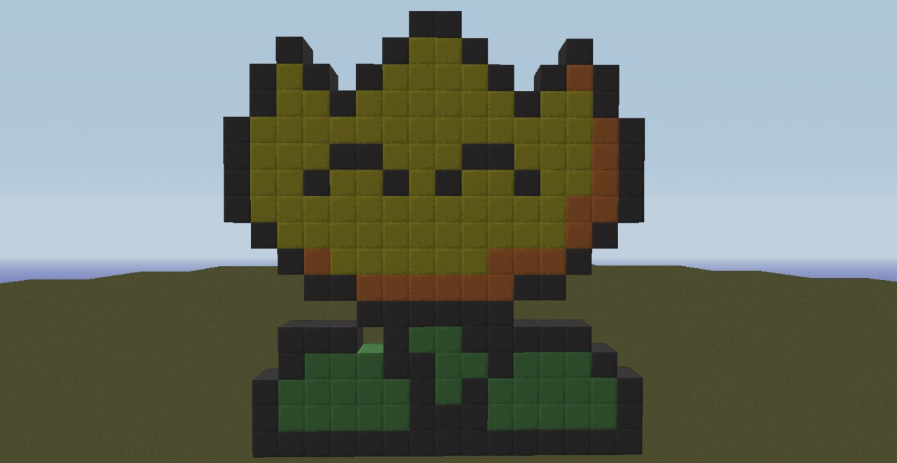 Pixel Art Mario Flower Minecraft Project