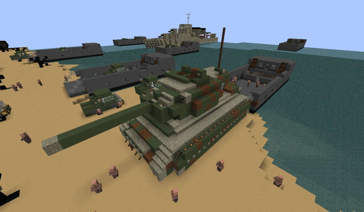 My d day invasion project minecraft project